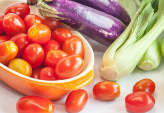 légumes cuits à la vapeur